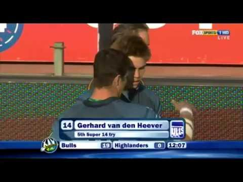Gerhard Van Den Heever Breakout Try Vs Highlanders