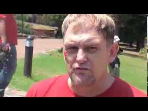 Steve Hofmeyr Interview During Red October March, Pretoria