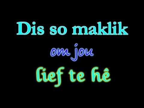 Text Animation Lyrics #4 - Bly Bog 'n Bietjie - Brendan Peyper HD